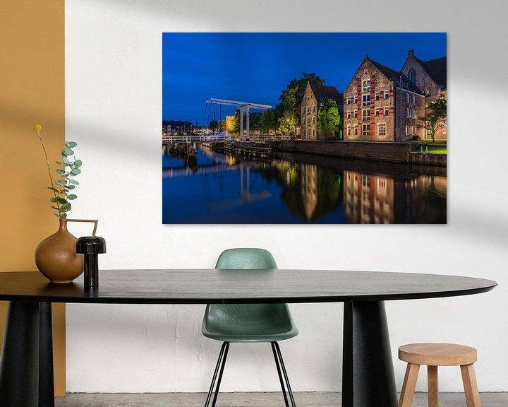 Sfeerimpressie: Thorbeckegracht Zwolle van Jeroen de Jongh