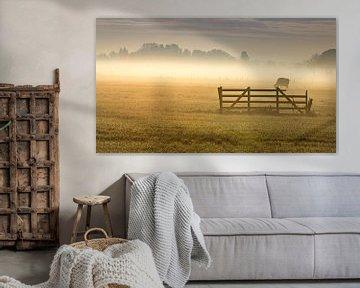Landschaft im Nebel von sjaak vogel