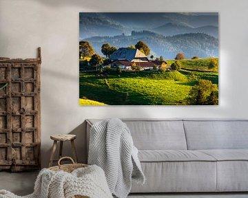 Schwarzwälder Bauernhof im Abendlicht von Jürgen Wiesler