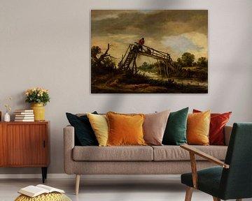 Landschaft mit Brücke, Pieter de Molijn