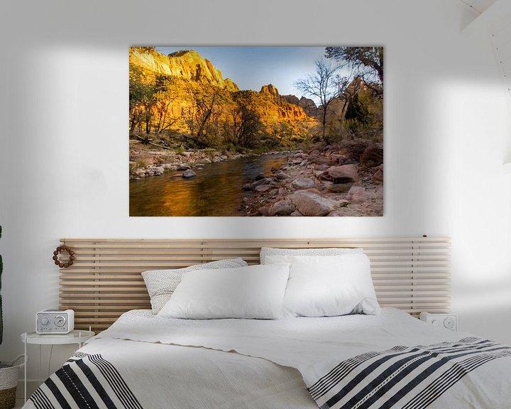 Sfeerimpressie: Zion national park river loop van Kevin Pluk