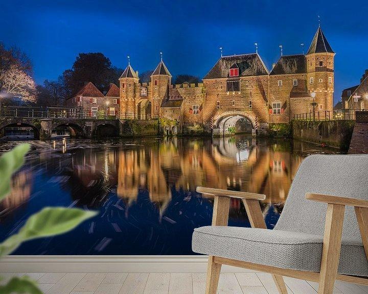 Sfeerimpressie behang: Koppelpoort Amersfoort van Jeroen de Jongh