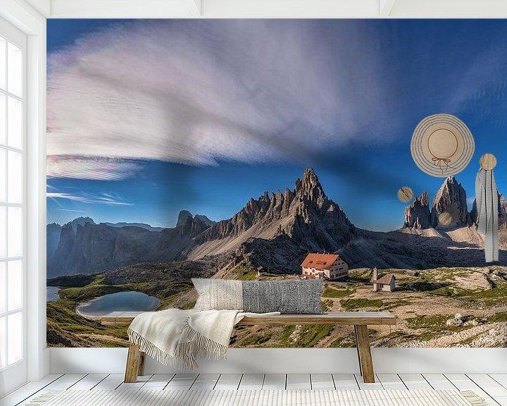 Sfeerimpressie behang: Drie pieken Panorama van Achim Thomae
