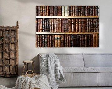 alte Bücher im Regal von Jürgen Wiesler