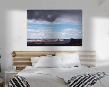 Storm boven Canyonlands in Utah van John Faber