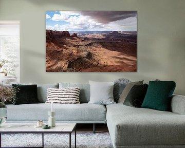 Storm boven Canyonlands, Utah van John Faber