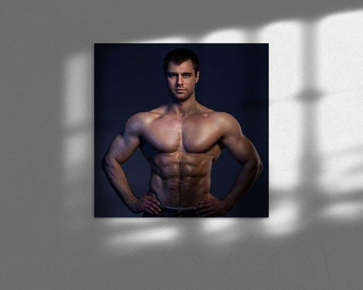 Sfeerimpressie: Stoer lijf van een sexy bodybuilder van Atelier Liesjes