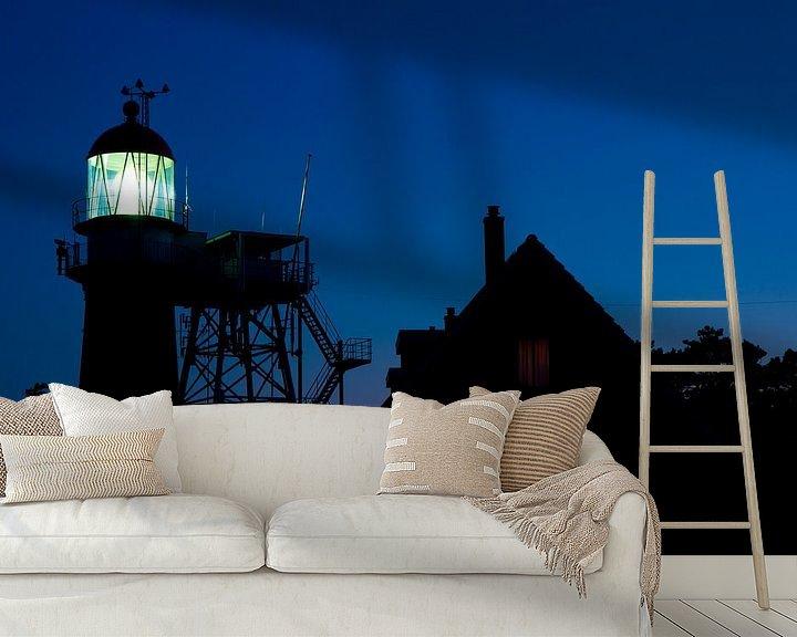 Sfeerimpressie behang: Vuurboetsduin by night van robert wierenga