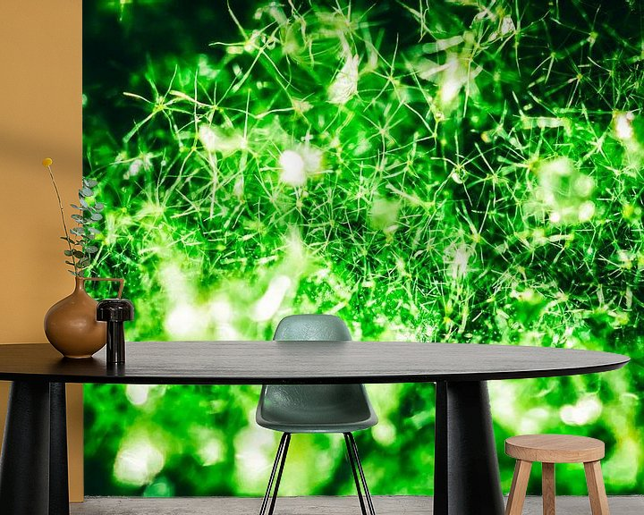 Sfeerimpressie behang: Super Green Galaxy van Joep Oomen