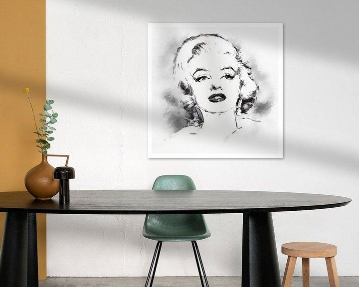Beispiel: Marilyn Monroe von Yolanda Bruggeman