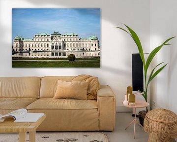 Slot Belvedere reflectie, Wenen van Marcia Kirkels