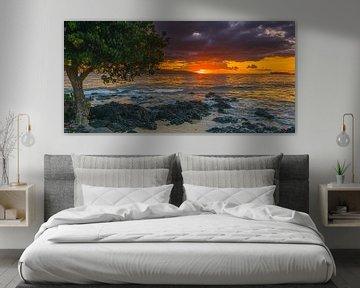 Sonnenuntergang Ahihi Kinau, Maui, Hawaii