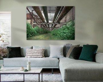 Alte Fabrikrohre von Olivier Photography