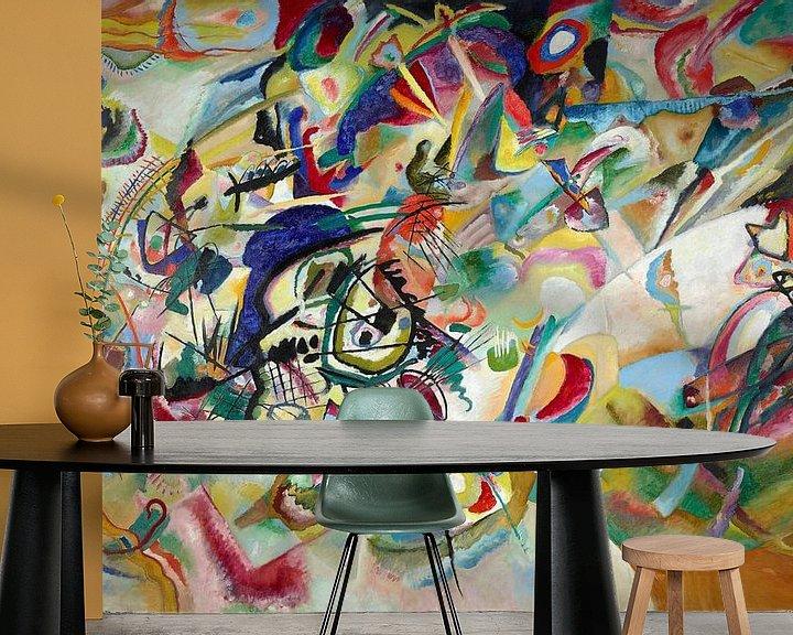 Sfeerimpressie behang: Samenstelling VII, Wassily Kandinsky