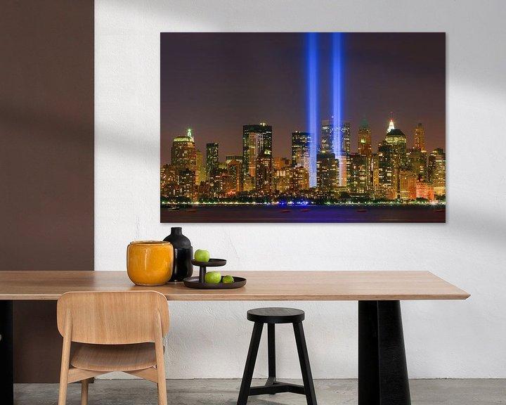 Sfeerimpressie: Tribute in Light tijdens 9/11 in New York City van Henk Meijer Photography