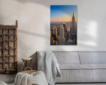 Manhattan vom Top of the Rock, New York City aus gesehen