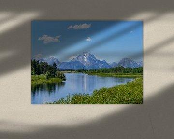 Landschap Grand Teton National Park van Moniek van Rijbroek