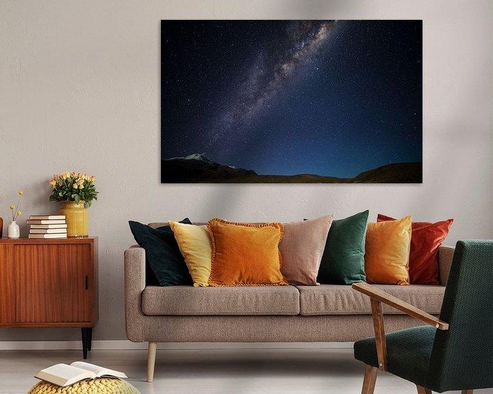 Sfeerimpressie: Rokende Melkwegvulkaan van Lennart Verheuvel