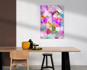 Bauhaus Stile 34 Pastell -  grafisches Muster von Claudia Gründler