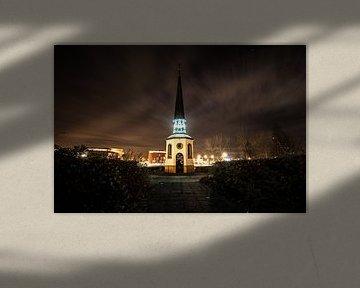 Gertrudiskapelle Bergen am Abend auf Zoom von Lars Mol