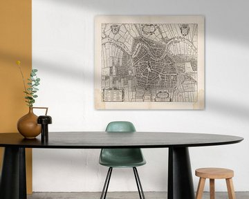 Plattegrond van Haarlem uit 1652