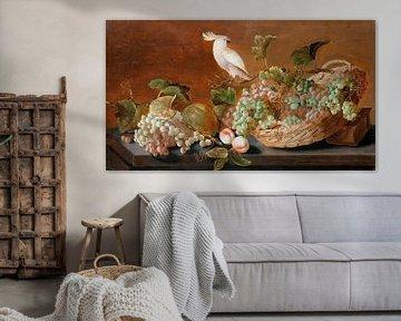 Stilleben mit Papagei, Dachkoets