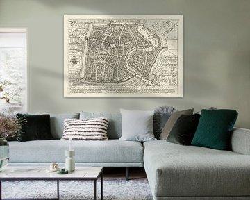 Plattegrond van Haarlem uit 1628