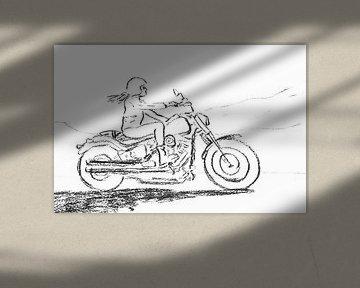 Das Freiheitsgefühl eines Motorradfahrers von Natalie Bruns