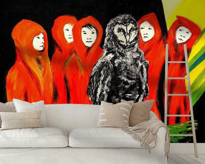 Sfeerimpressie behang: Wijze vrouwen van Eberhard Schmidt-Dranske