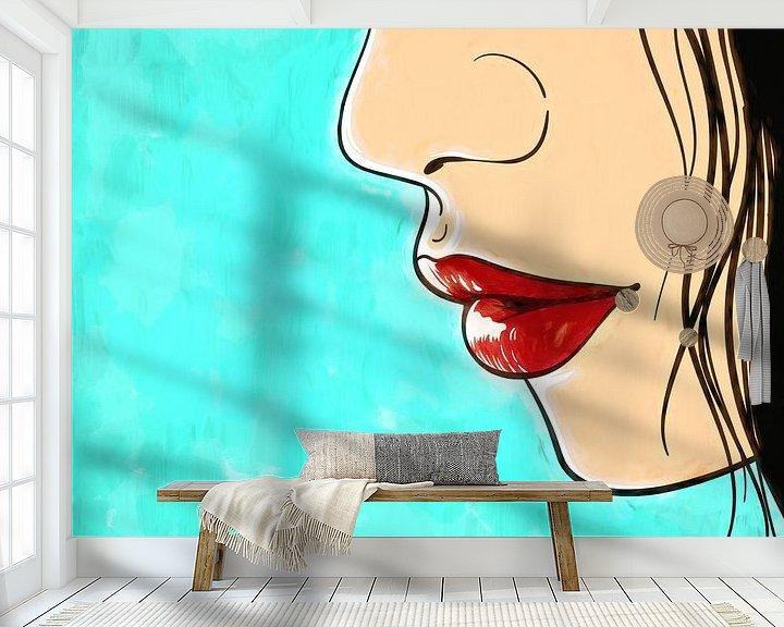 Sfeerimpressie behang: Lippen van Arjen Roos