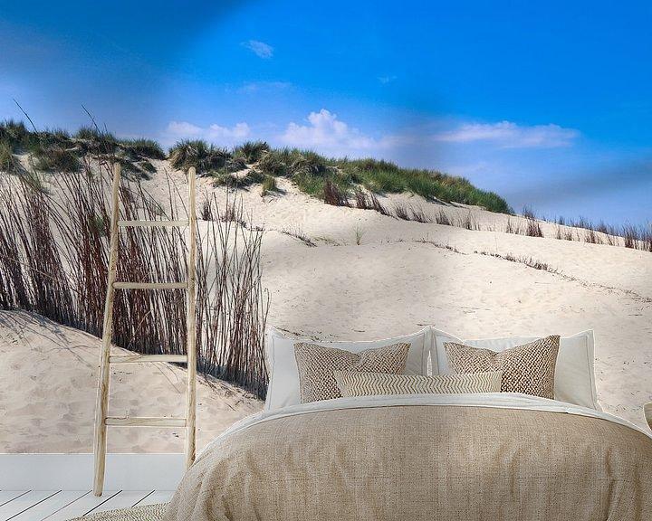 Sfeerimpressie behang: de duinen op het strand van texel van Martin Albers Photography