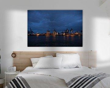 Hamburg Hafen bei Nacht