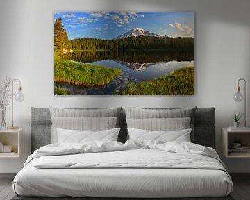 Sunrise Mount Rainier, Bundesstaat Washington, Vereinigte Staaten