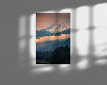 Zonsopkomst Mount Baker, Washington State, Verenigde Staten van Henk Meijer Photography