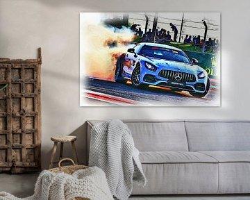 Mercedes-Benz op drift van DeVerviers