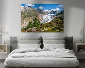 Aletschgletsjer in Zwitserland van Achim Thomae