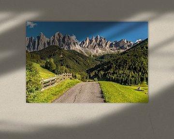 Villnösstal in Zuid-Tirol van Achim Thomae