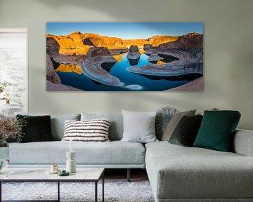 Panorama Reflection Canyon, Lake Powell, Utah