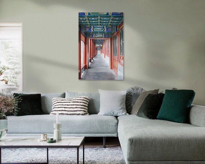 Sfeerimpressie: Lange Corridor Kunstwerken Koninklijke Parken Beijing Gang van Ben Nijhoff