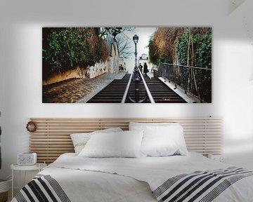 Die Straßen von Montmartre, Paris von Erik Wardekker