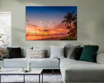 BONITA BEACH Romantische zonsondergang van Melanie Viola