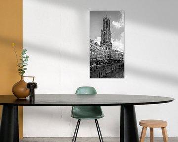 Die Domtoren von Utrecht mit dem Vismarkt im Vordergrund (schmales Format) von De Utrechtse Grachten