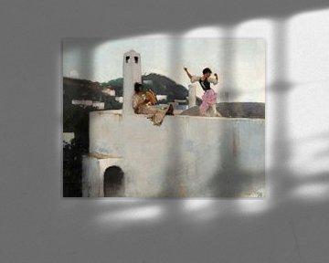 Capri-Mädchen auf dem Dach, John Singer Sargent