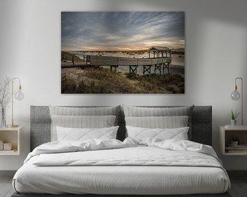 Zonsondergang Petten strand van Thomas Paardekooper