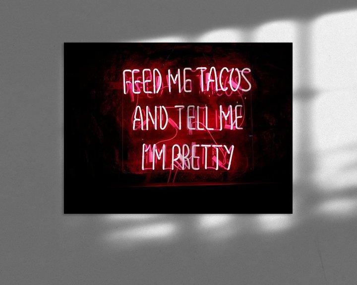 Beispiel: Füttere mich mit Tacos und sag mir, dass ich schön bin Text von Atelier Liesjes