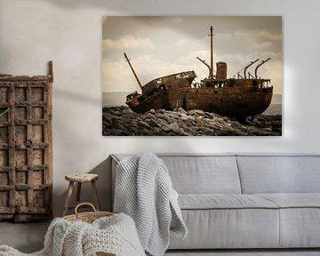 Irland - Galway - Inis Oirr - Schiffswrack von Meleah Fotografie