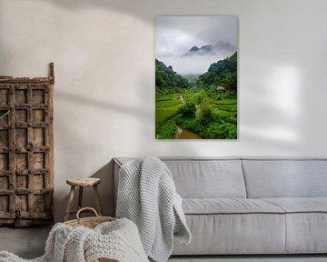 Bergdorpje in Pu Luong, Vietnam van Ellis Peeters