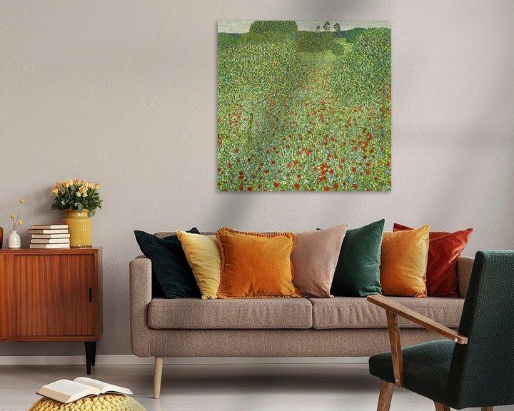 Sfeerimpressie: Klaprozenweide, Gustav Klimt