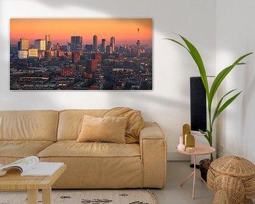 Panorama Rotterdam Skyline à partir des tours LEE sur Vincent Fennis
