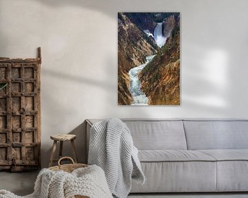 Lower Falls in Yellowstone NP, Wyoming, USA